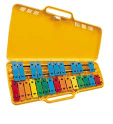 'Angel' AX2503 25 Note Glockenspiel Rainbow-Coloured Notebars