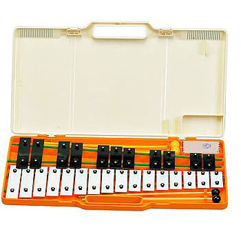 'Angel' AX27K 27 Note Glockenspiel White & Black Notebars