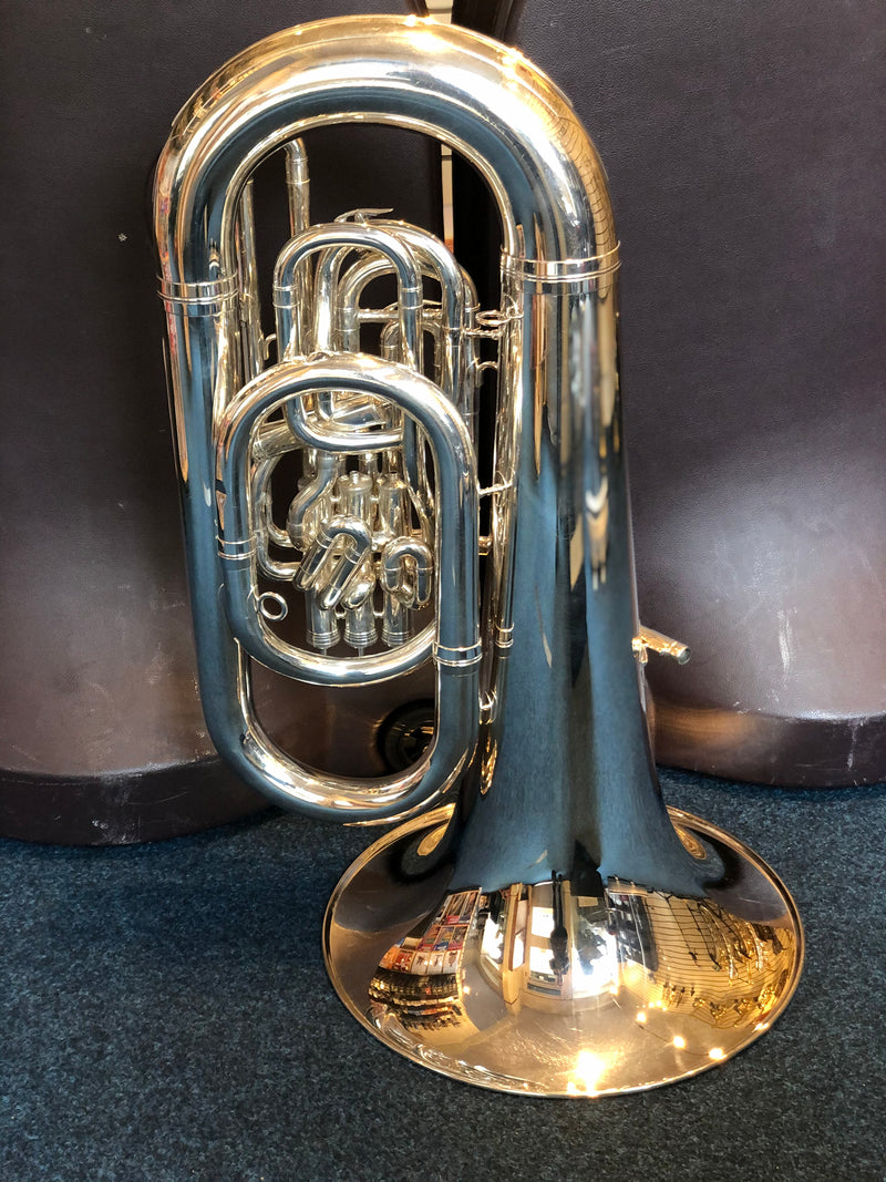 Besson BE982 EEb Sovereign Tuba - Silver Plate - Pre Owned