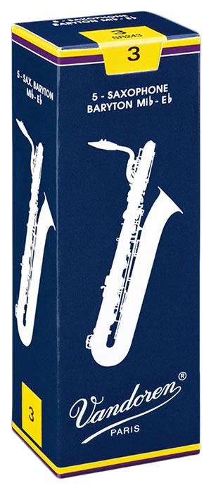 Vandoren TRADITIONAL - Baritone Sax Reeds - Box of 5