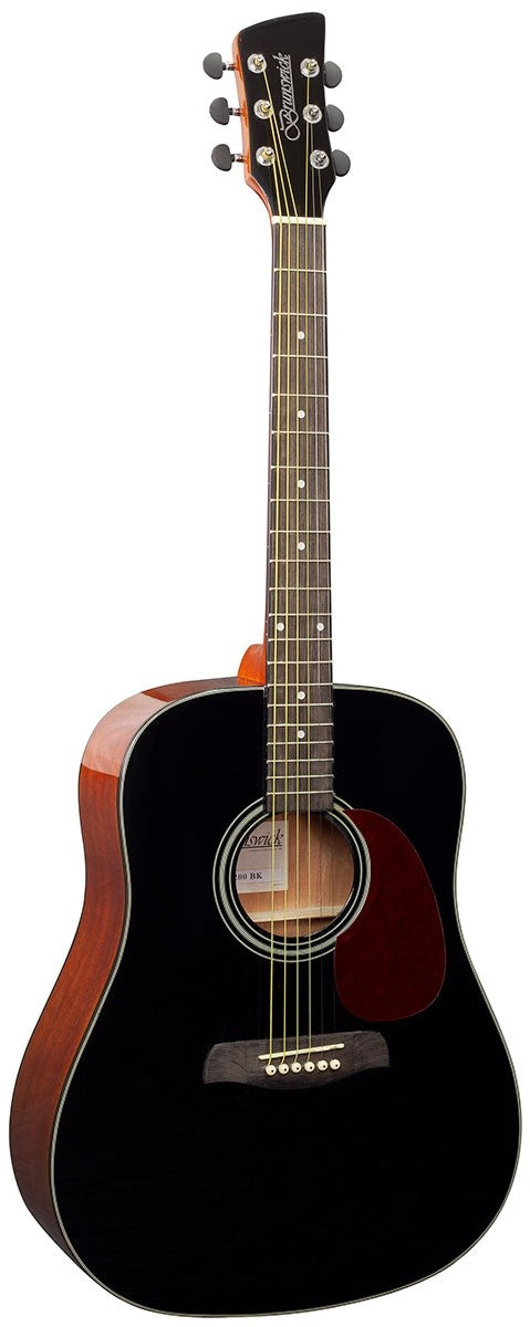 Brunswick BD200 Dreadnought Acoustic Guitar, Black Gloss