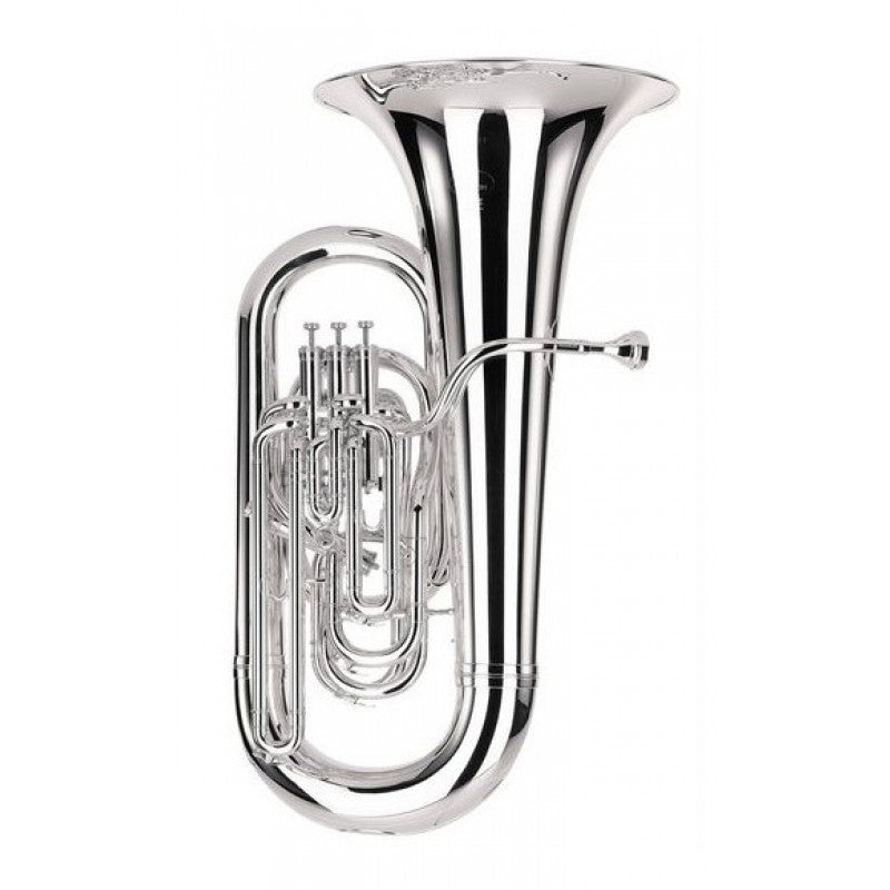 Besson BE982 EEb Sovereign Tuba - Silver Plate
