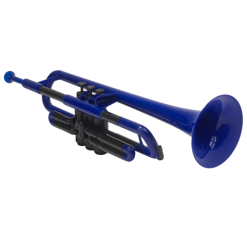 pTrumpet Plastic Bb Trumpet Outfit with Carry Case -Blue