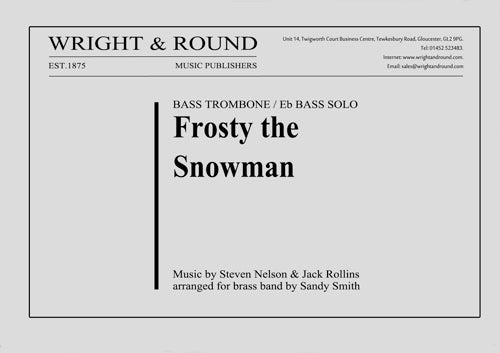 Frosty the Snowman (Bass Trombone Solo) - Parts & Score