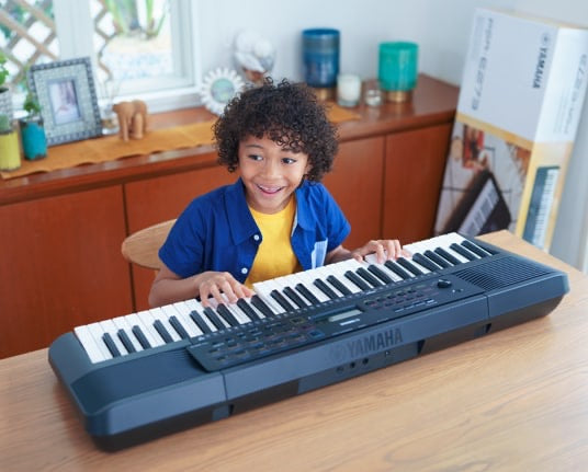 Yamaha PSRE-273 portable keyboard, 61 touch response keys, power supply included
