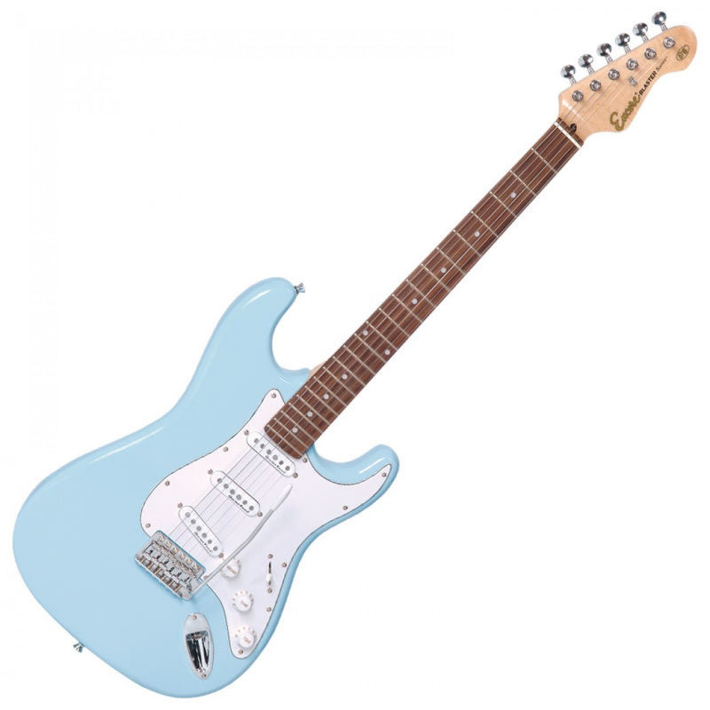 Encore E6 Electric Guitar, Laguna Blue
