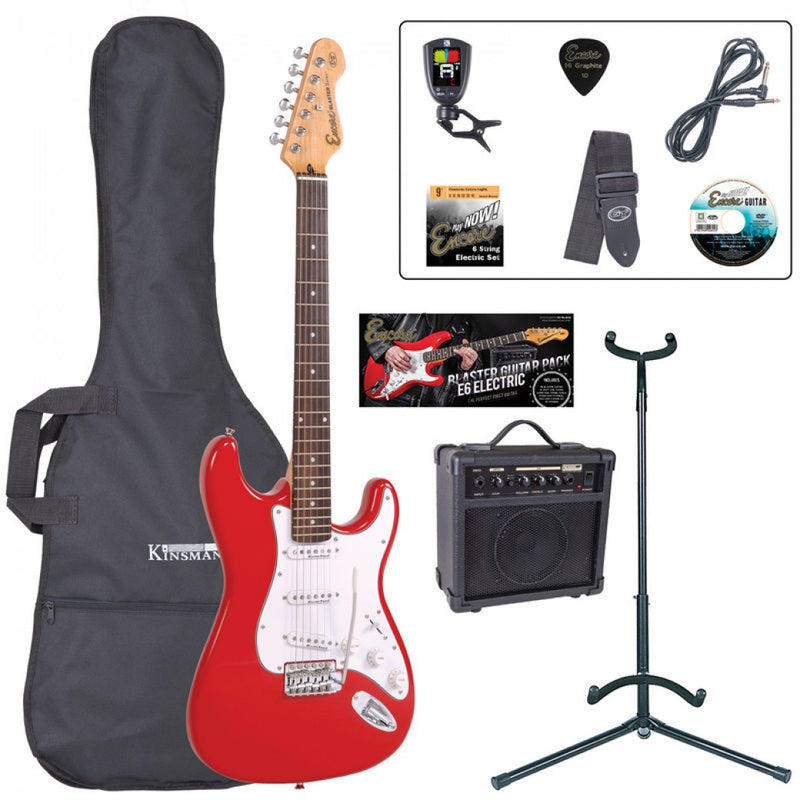 Encore Electric Guitar Package, Red