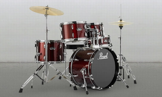 Pearl Roadshow RS525SC/C 5 Piece Compact Drum Kit, including cymbals