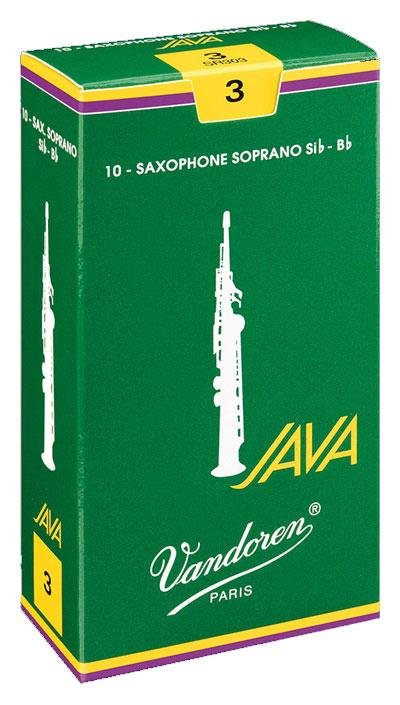 Vandoren JAVA - Soprano Sax Reeds - Box of 10