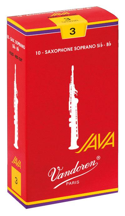 Vandoren JAVA RED FILED - Soprano Sax Reeds - Box of 10