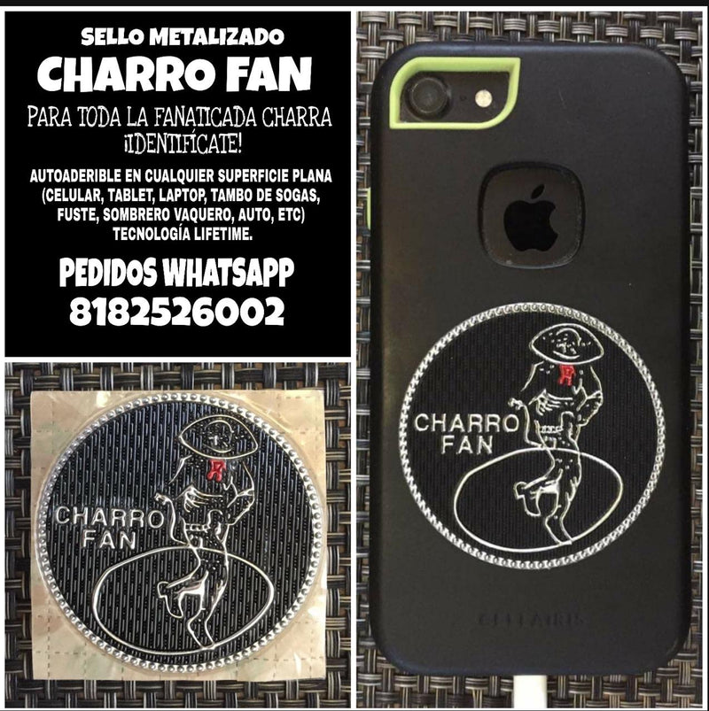Sello Metalizado Autoadherible CHARROFAN - DeCharros.com