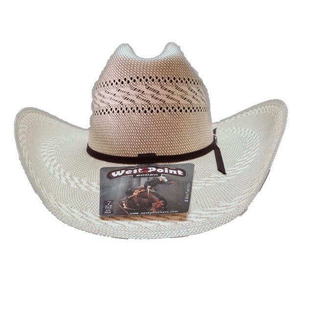 Sombrero de Palma 100X - George Line Bicolor Randado - West Point