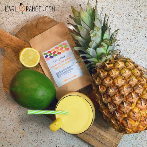 Dry January mocktail pina colada losse thee recept