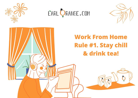 Work from home werkthuis - losse thee cadeau