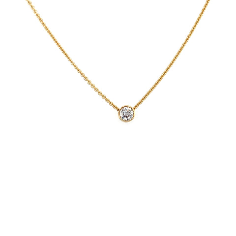 Collier Gold 750  Brillant 0.06 ct 45 cm  - C128