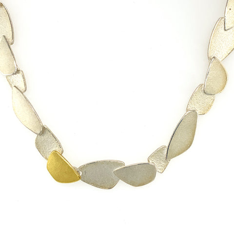 Collier Silber 925 Gold 750