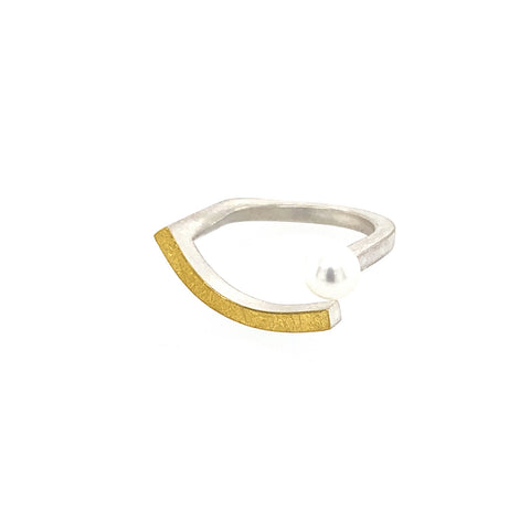 Ring Silber 925 Gold 900 - R130