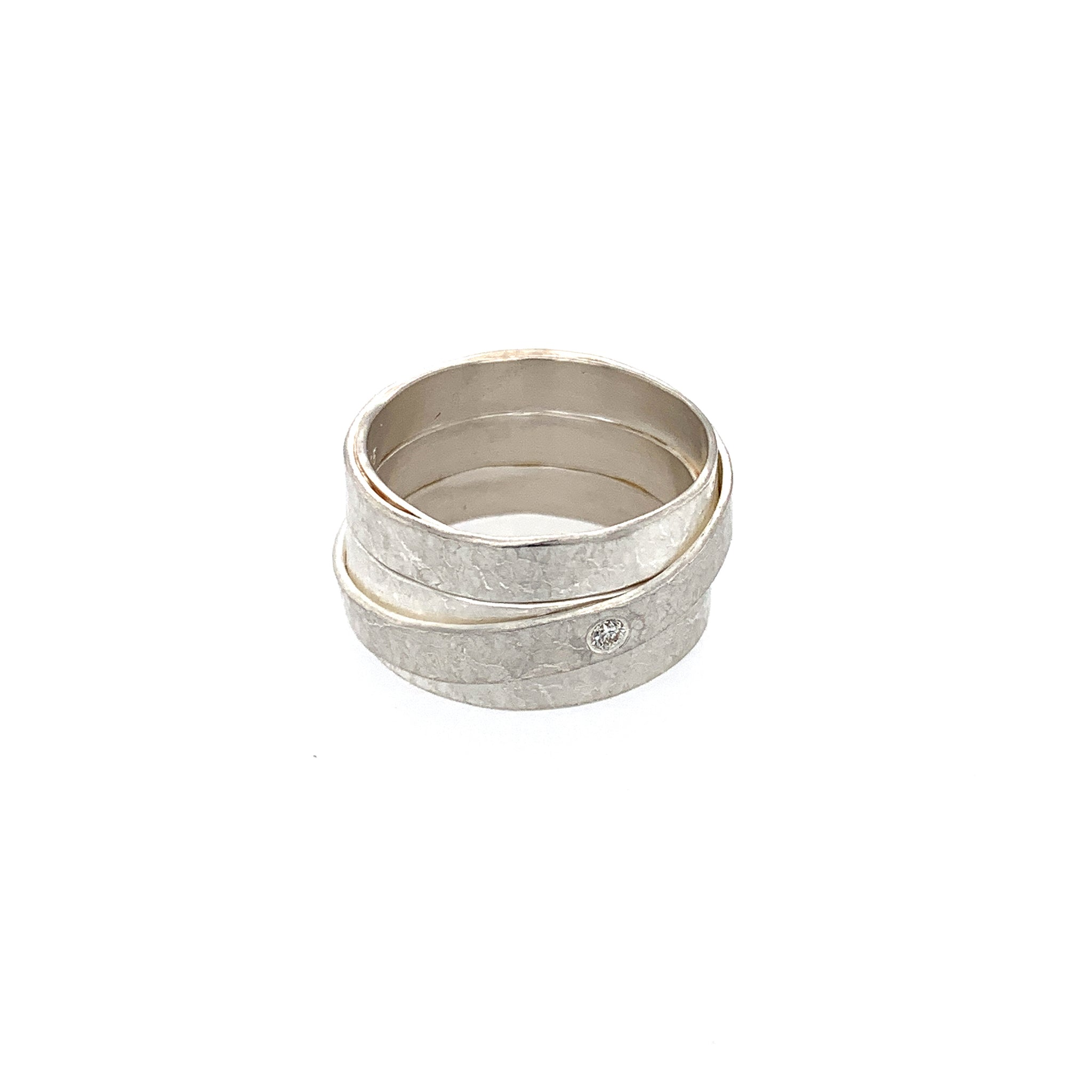 Ring Silber 925 Brillant 0.03 ct - R135