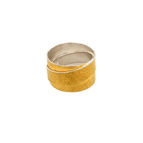 Ring Silber 925 Gold 999 - R136
