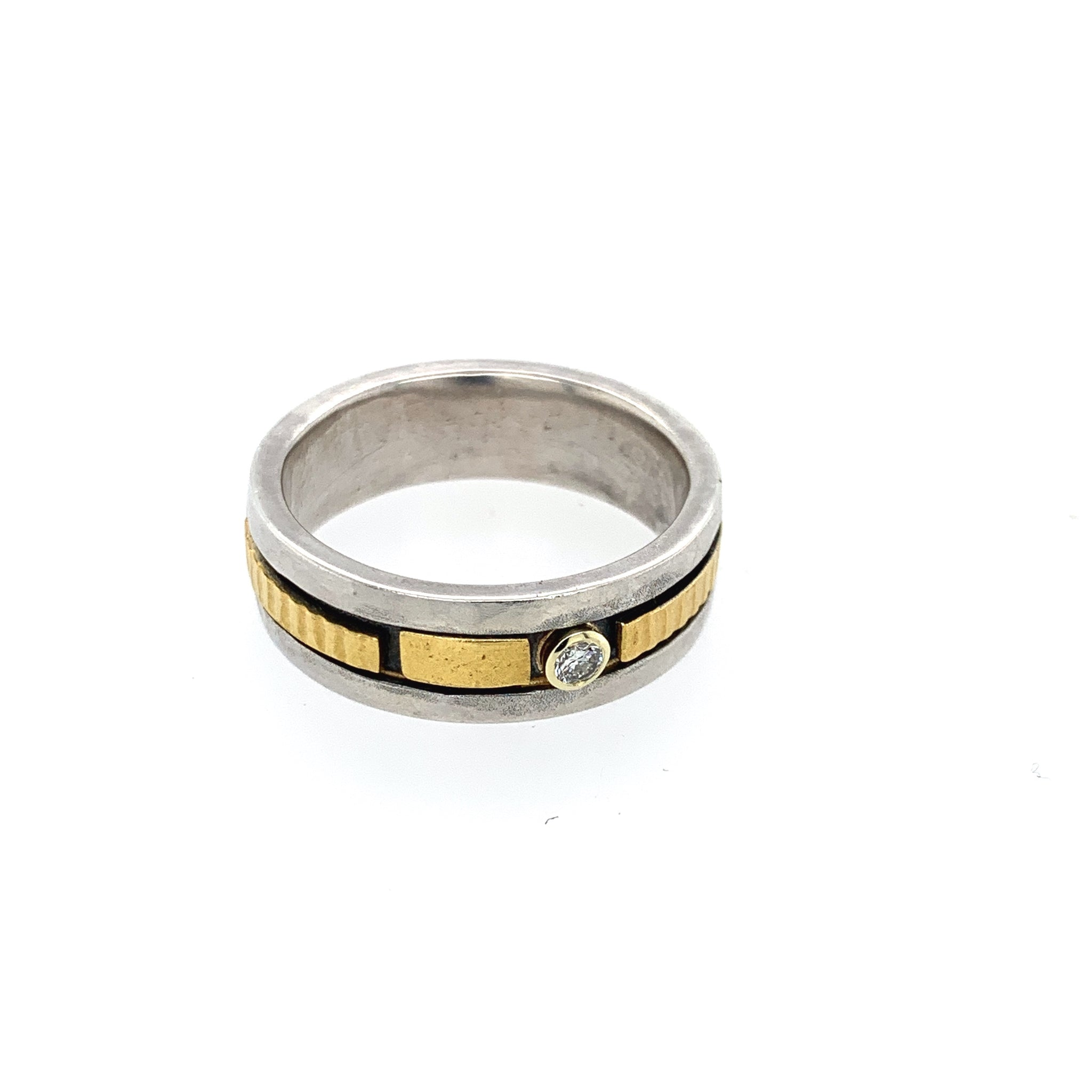 Ring Silber 925 Gold 900 - R141