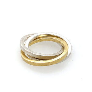 Ring Silber 925 Gold 750 - R41