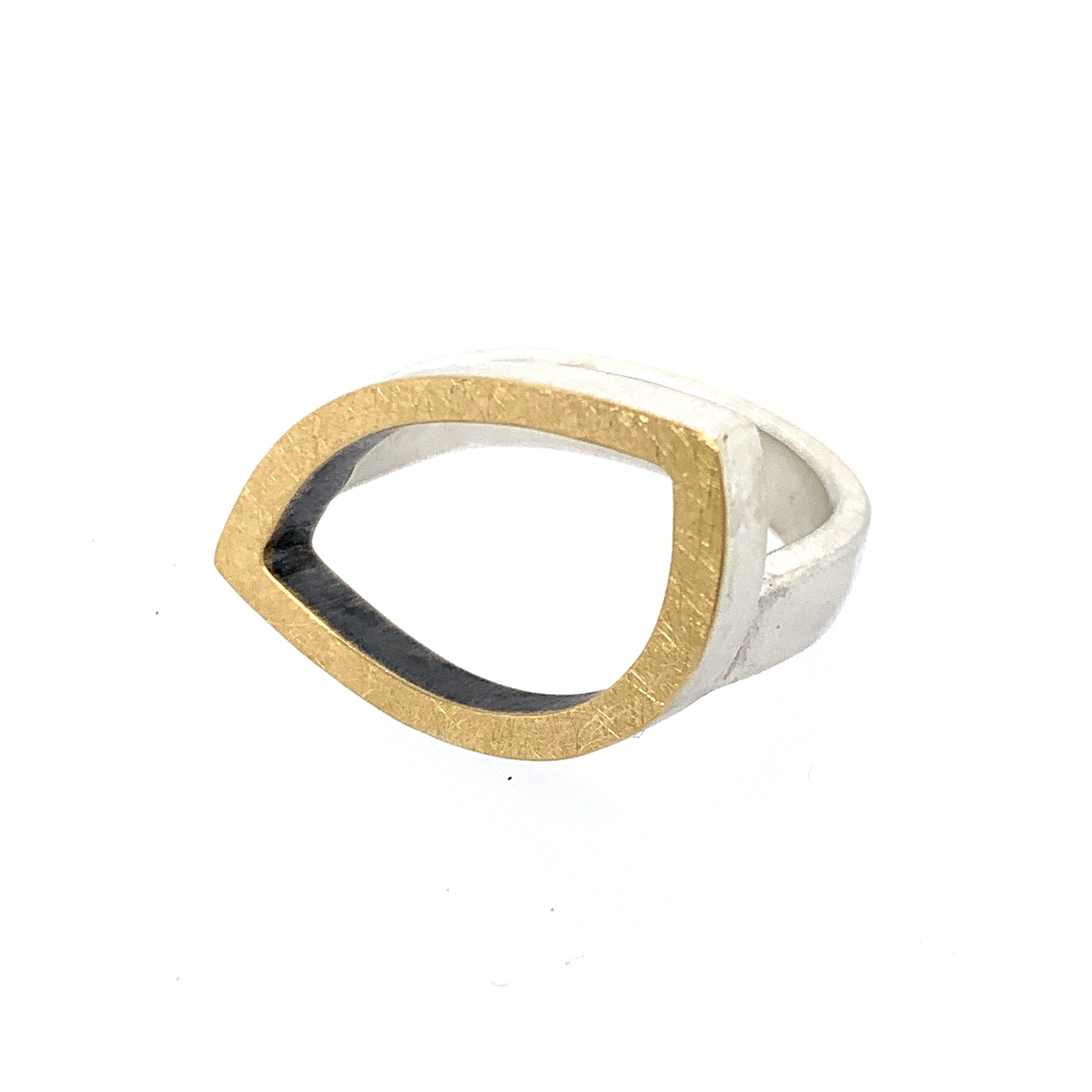 Ring Silber 925 Gold 750 - R44