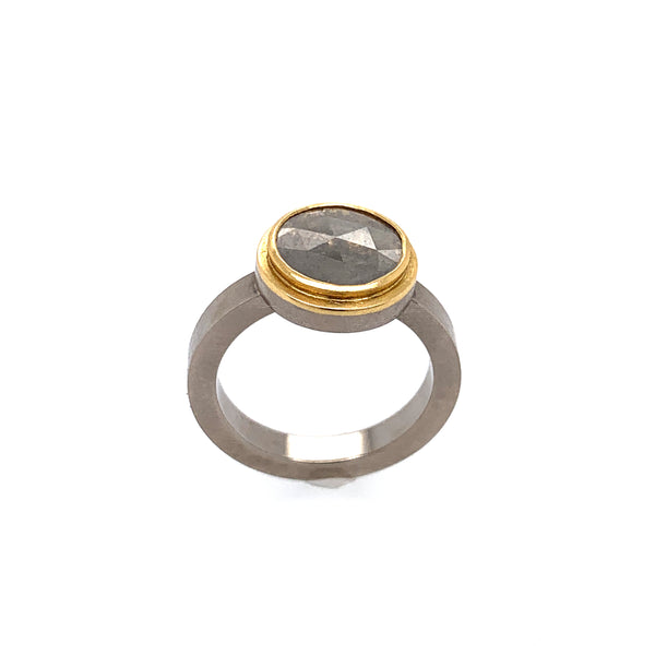 Ring Weißgold 750 Gold 900 Diamant 0.86 ct - R59