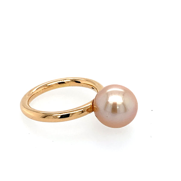 Ring Roségold 750 Perle 10 mm - R74