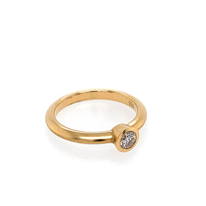 Ring Gold 750 Brillant 0.21 ct TW/SI - R98