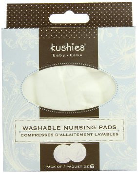 Kushies Washable Breaspads 6 Pk
