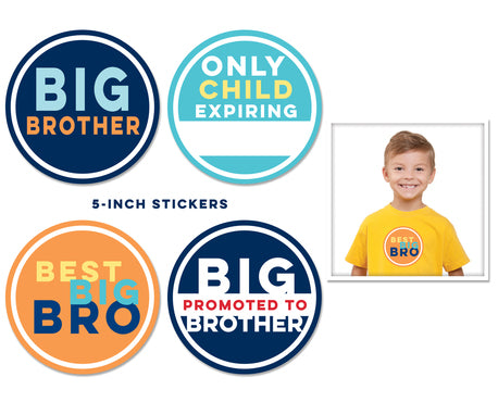 Big Brother Stickers 4 pk
