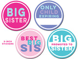 Big Sister Stickers 4 pk