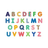 Mudpuppy Pattern Pop Uppercase Wooden Magnetic Letters