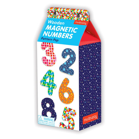 Mudpuppy Pattern Pop Wooden Magnetic Numbers