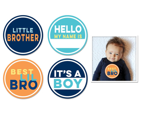 Little Brother Stickers 4 pk