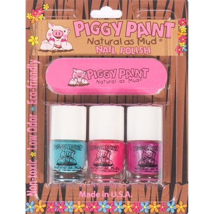 Piggy Paint 3 Pack with Nail File