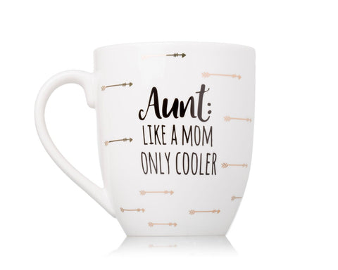 Pearhead Aunt: Like a Mom, Only Cooler Mug