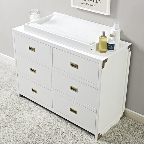 Baby Relax Miles Dresser Topper in White