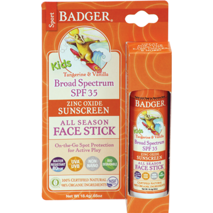 Badger SPF 35 Kids Face Stick