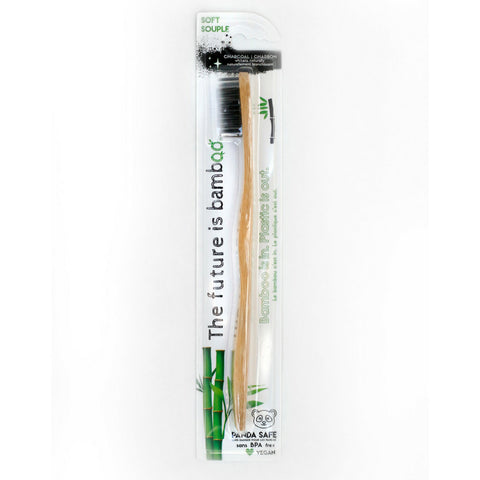 THE FUTURE IS BAMBOO ADULT CHARCOAL TOOTHBRUSH