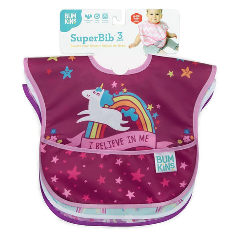 Bumkins SuperBib 3PK - Unicorn