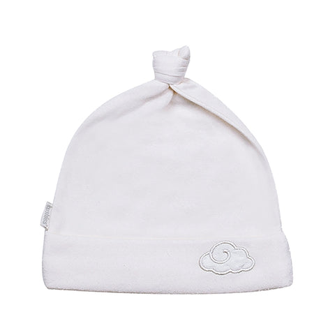 Kushies Classic Knotted Hat - White