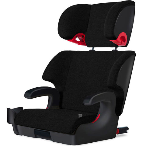 Oobr Booster Seat - Jersey Knit - Carbon-Black/Black