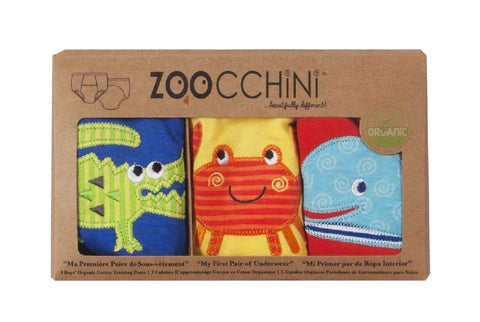 Zoocchini Organic Training Pants - Crocodile, Whale & Crab