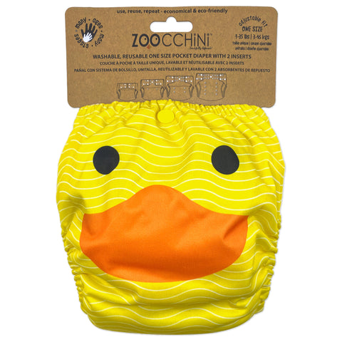 Zoocchini One Size Pocket Cloth Diaper - Duck