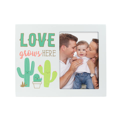 "Pearhead ""Love Grows Here"" Cactus Frame"