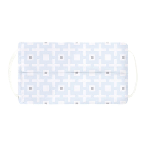 Kushies Washable Adult Face Mask - Blue Squares