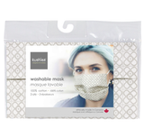 Kushies Washable Face Mask - Linen Print