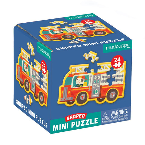 Mudpuppy Shaped Mini Puzzle - Firetruck