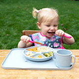 Green Sprouts Learning Plate Gray